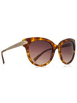 Premium 26FCA015 brown tort round sunglasses