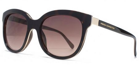French Connection 26FCU654 Tort Round Sunglasses