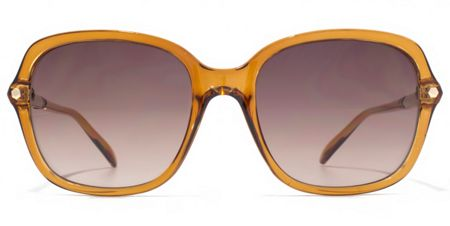 French Connection 26FCU656 Amber Hexagon Sunglasses