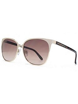 26FCU657 Light Gold Square Sunglasses