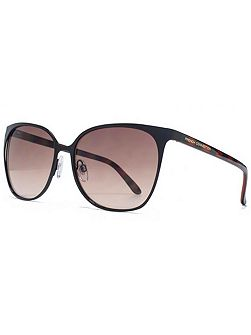 26FCU658 Black Square Sunglasses