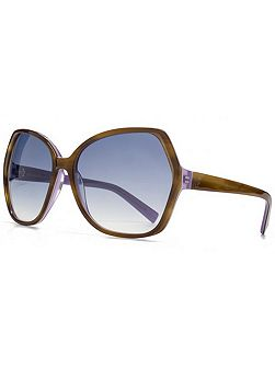 26FCA036 Horn Purple Glam Sunglasses