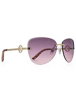 26KGL017 Matt gold rimless