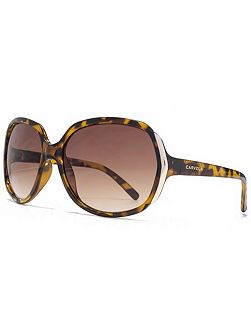 26CAR033 Brown Tort Square Sunglasses