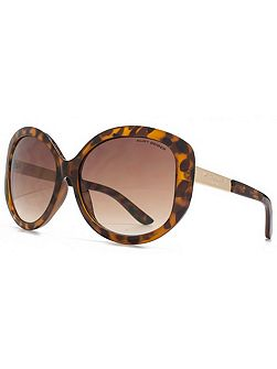 26KGL034 Brown Tort Round Sunglasses