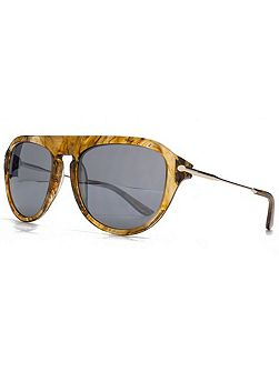 26KGP001 Brown Square Sunglasses