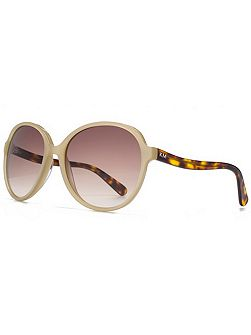 26KMP003 Cream Round Sunglasses