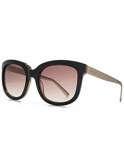 26KMP004 Black Square Sunglasses