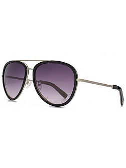 26KMP005 Black Aviator Sunglasses