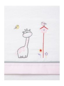 Fabricado En Espana Baby girls giraffe cot sheet set 150x100