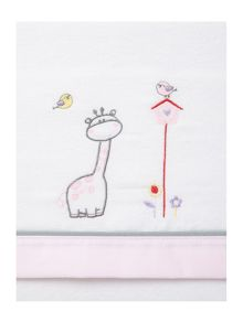 Fabricado En Espana Baby girls giraffe cot sheet set 170x110