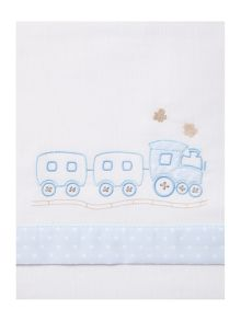 Fabricado En Espana Baby boys train cot sheet set 170 x 110