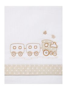 Fabricado En Espana Babies train cot sheet set 150 x 100