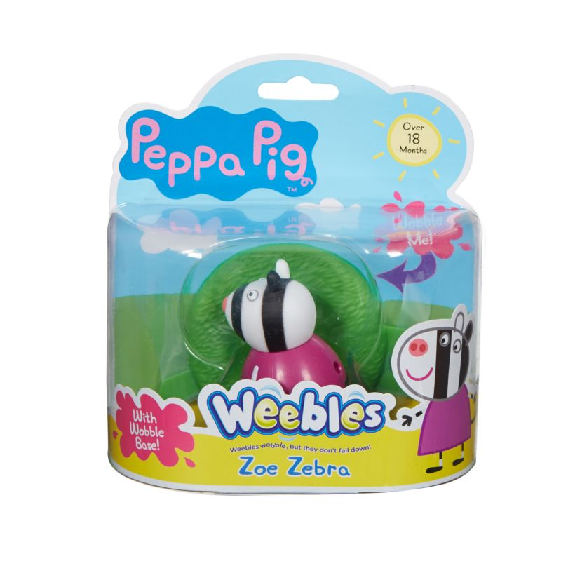 Weebles Wobbily Figure and Base - Zoe Zebra