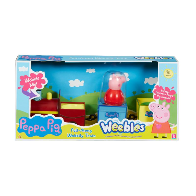 Weebles Pull-Along Wobbily Train