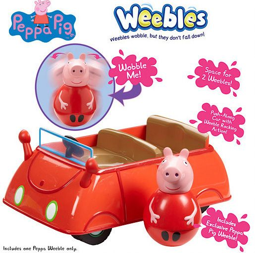 Weebles Push-Along Wobbily Car