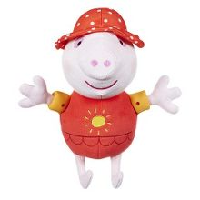 Talking holiday peppa soft toy