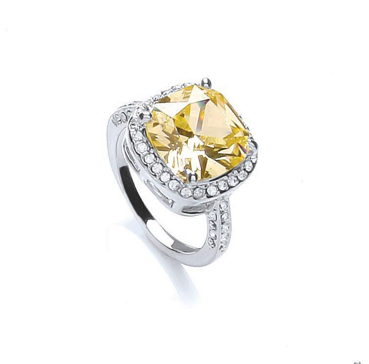 Knightsbridge cushion sparkle ring