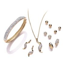 Buckley London Gold Plated Pave Set
