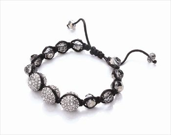 Sparkle glass adjust bracelet