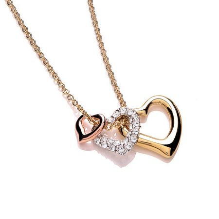 Buckley London 3 Tone Plated Heart Pendant