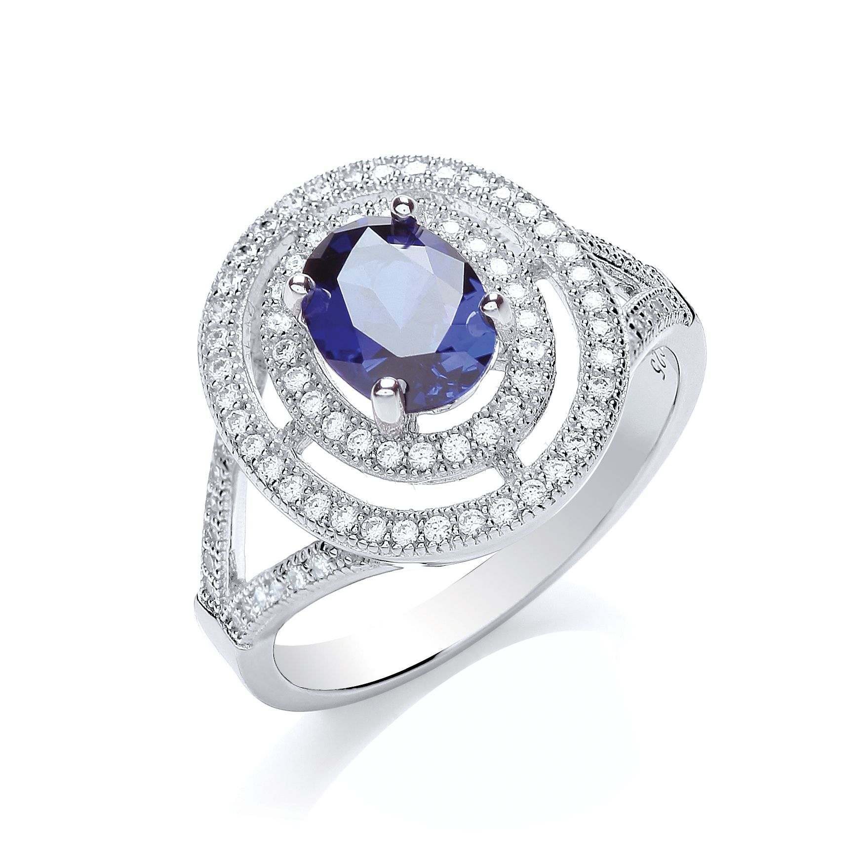 bouton oval surround ring