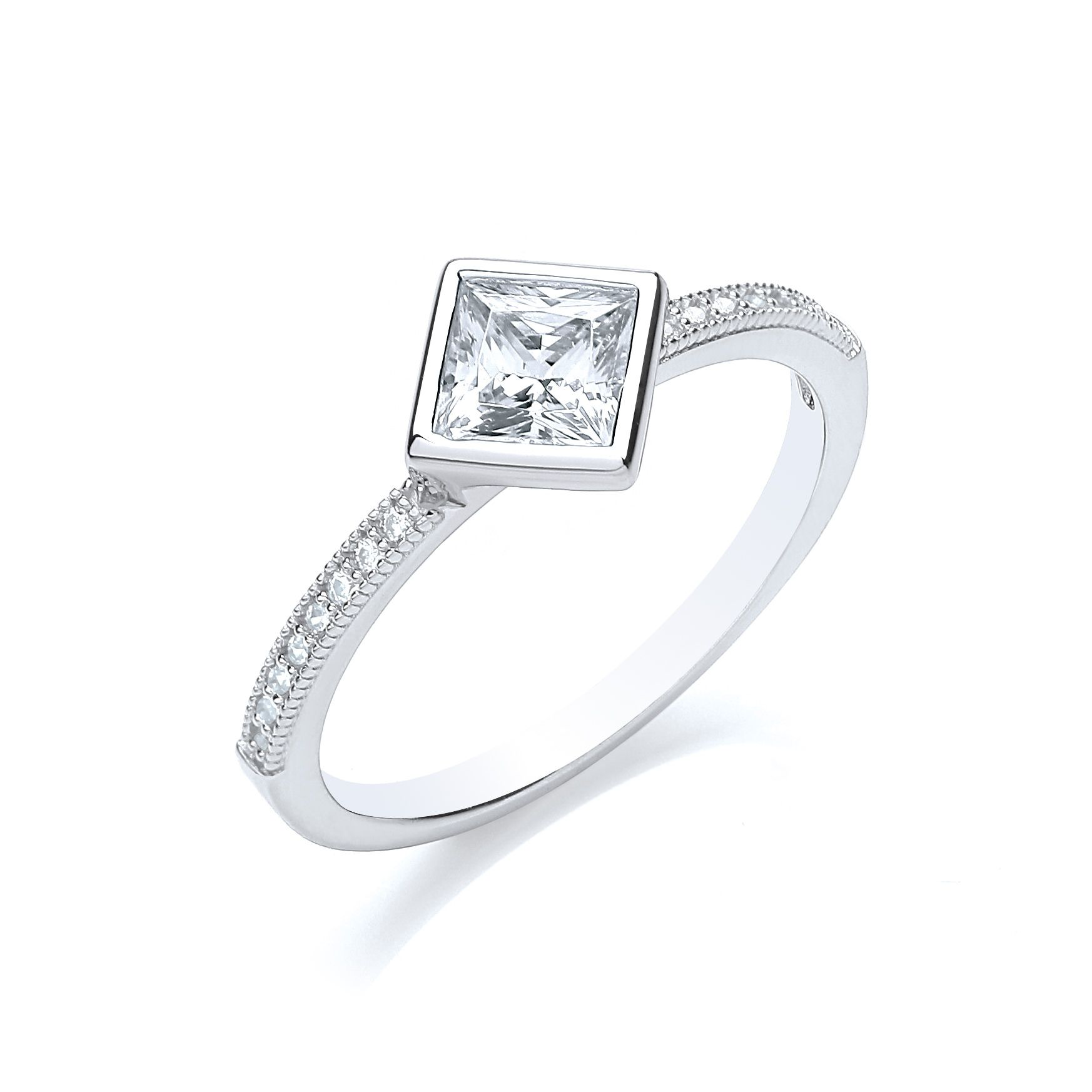 bouton stacker ring princess