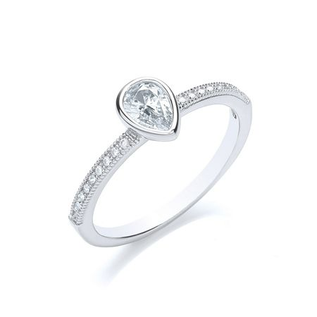 Bouton Stacker ring pear