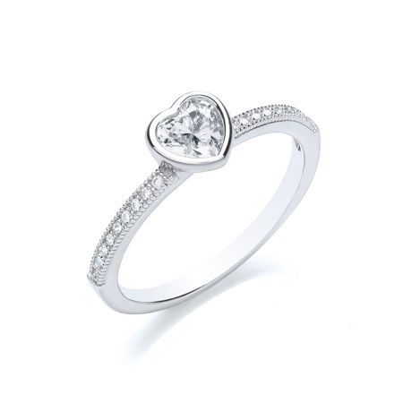 Bouton Stacker ring heart