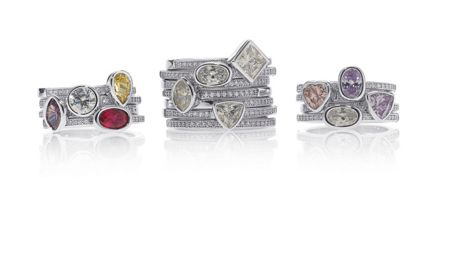 Bouton Stacker ring oval