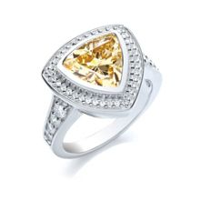 Bouton Large stone trillion ring