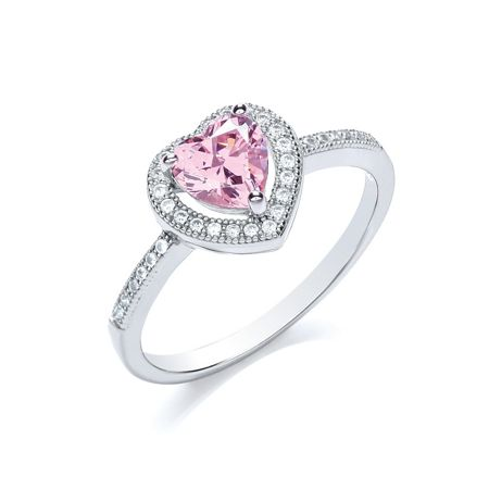 Bouton Delicate heart ring