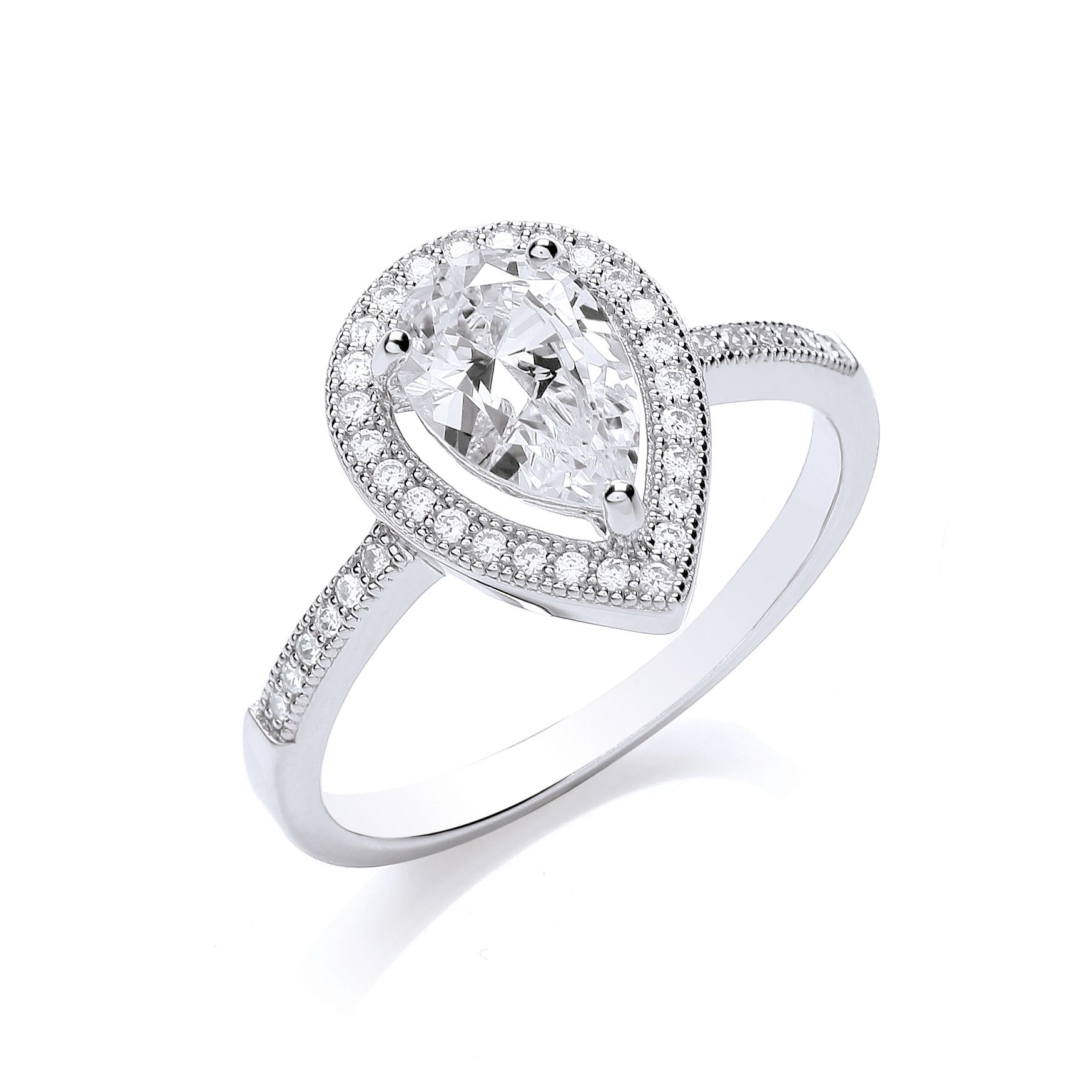 bouton delicate pear ring