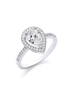 Delicate pear ring