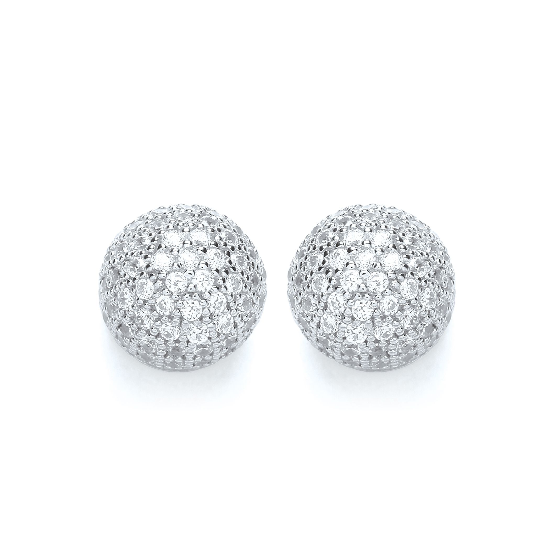Snowball stud earrings