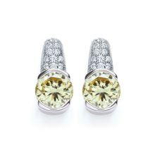 Bouton Pave Earrings