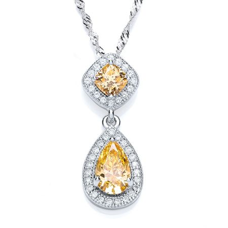 Bouton Pear drop slider pendant