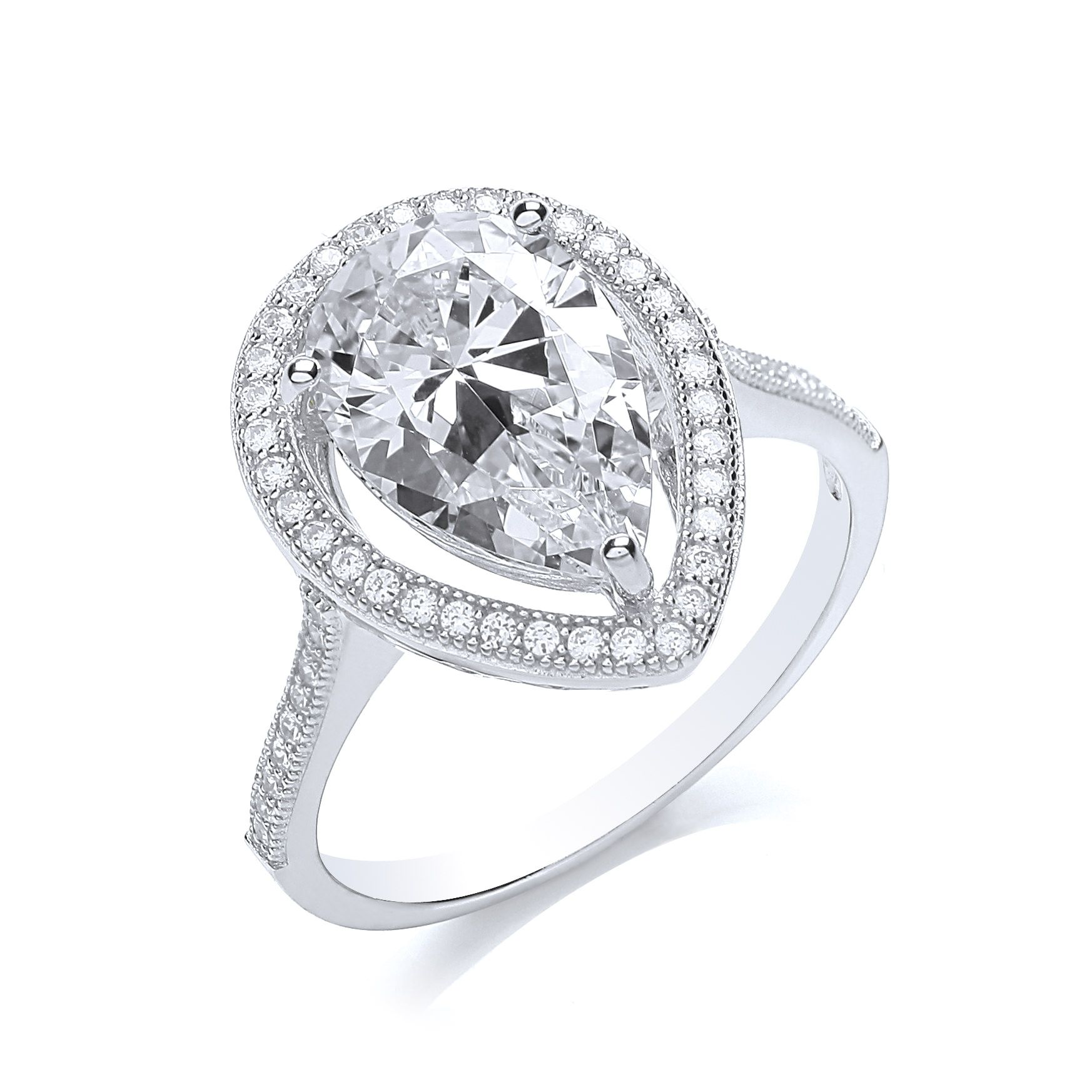 bouton pear ring