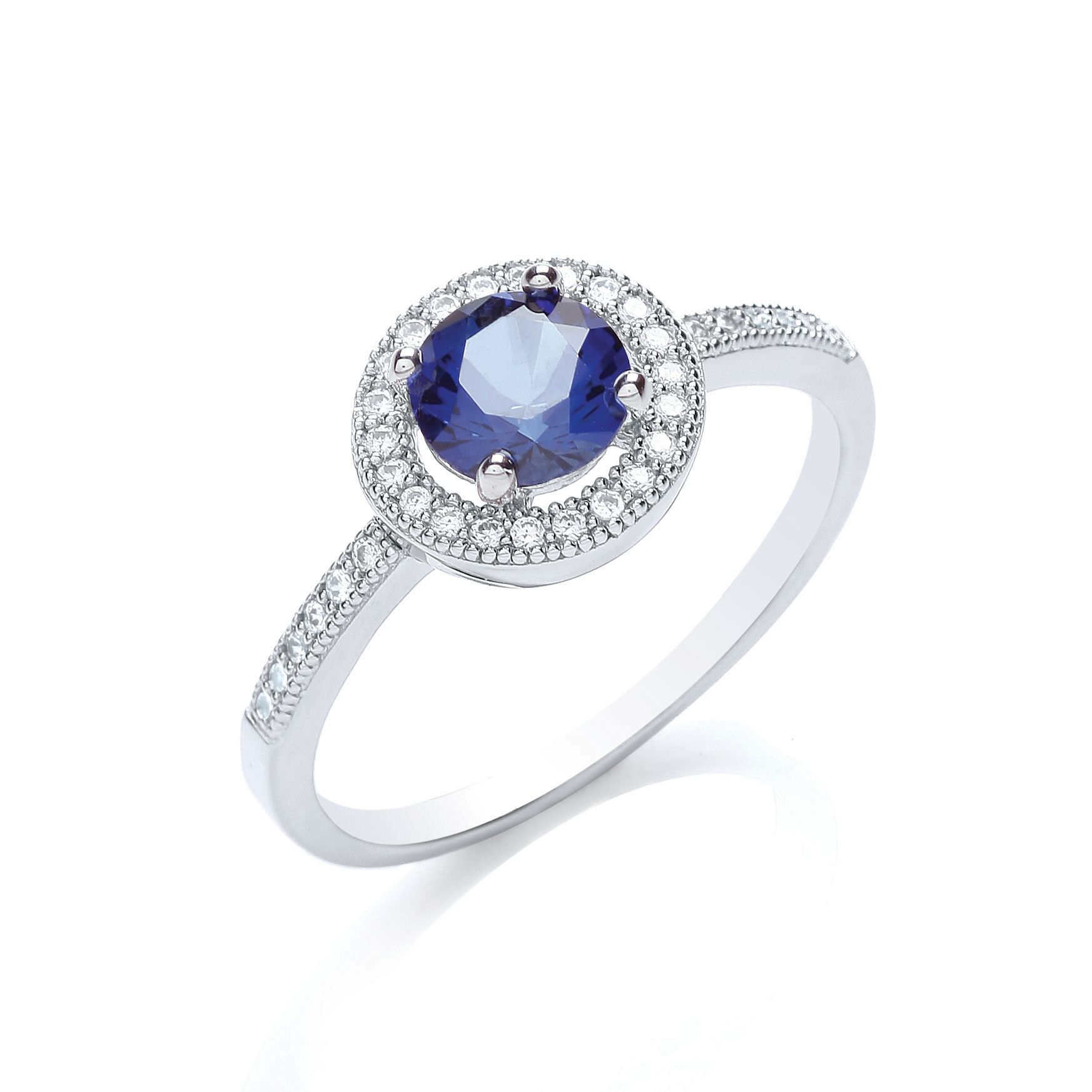 bouton delicate round stone ring