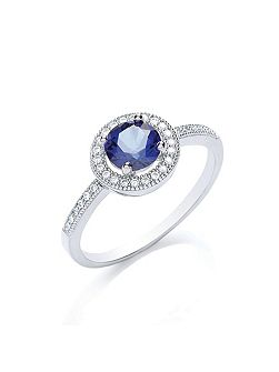 Delicate round stone ring