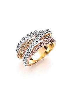 Russian sparkle strand ring