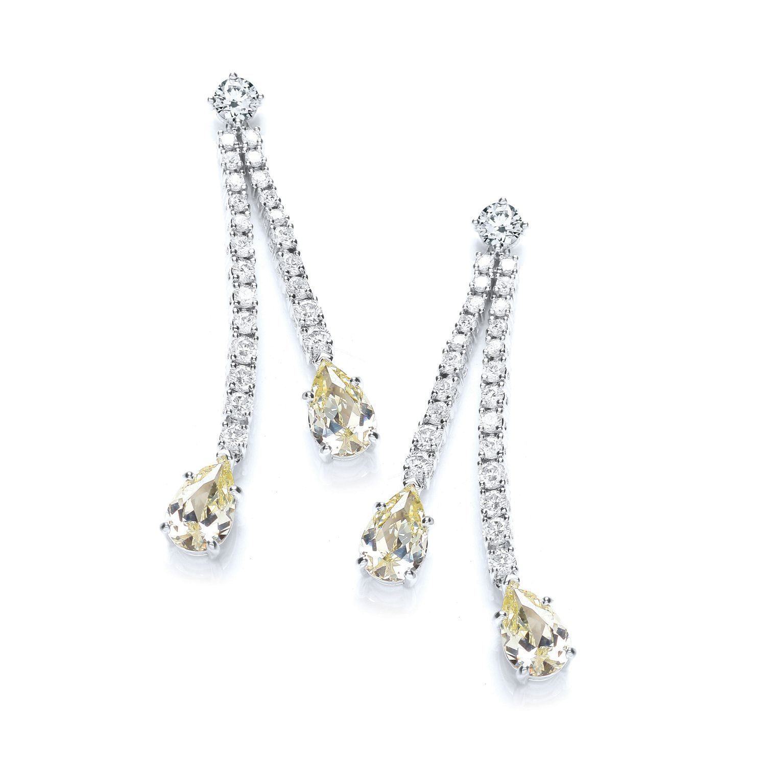 Sparkle pear drop earrings