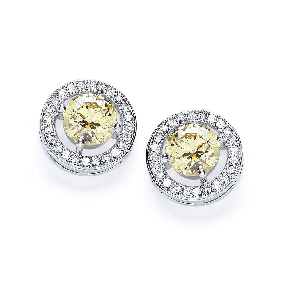 Rhodium plate roulette earrings