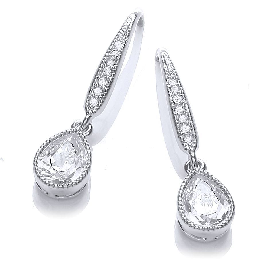 buckley london pear drop earring