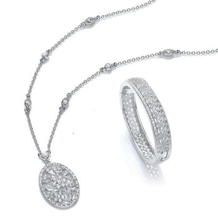 Buckley London Bangle & pendant set