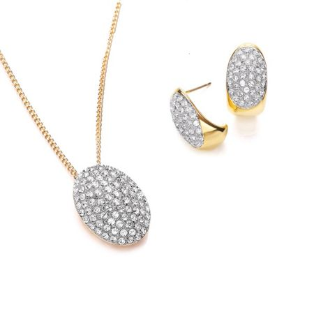 Buckley London Pave Pendant and Earring Set