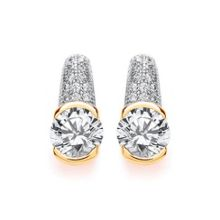 Bouton Chunky pave earrings
