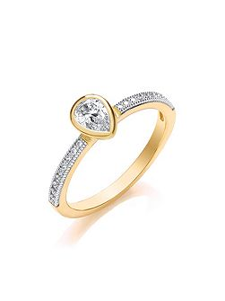 Stacker ring pear