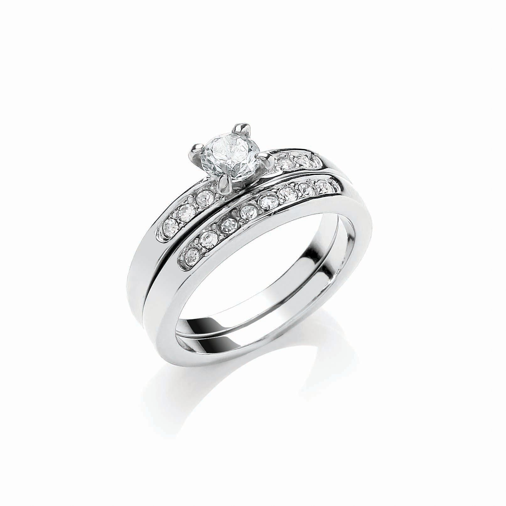 buckley london rhodium wedding ring duo