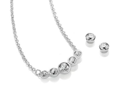 Buckley London Rhodium Bubbles Set